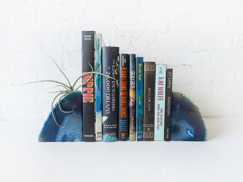 30% SALE Air Plant Pluto Blue Planetary Storm Book Ends