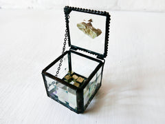 Geometric Gold - Jewelry Box with Pyrite Geodes