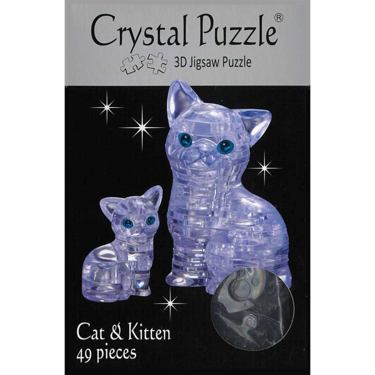 3D Crystal Puzzle - Cat and Kitten