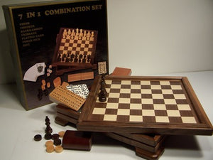 7 in 1 Game Set Wood Box