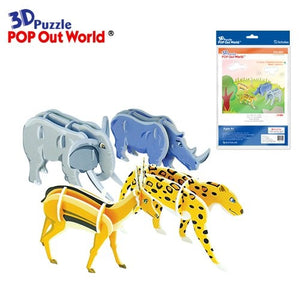 Pop Out - Cheetah, Gazelle, Rhino and Elephant