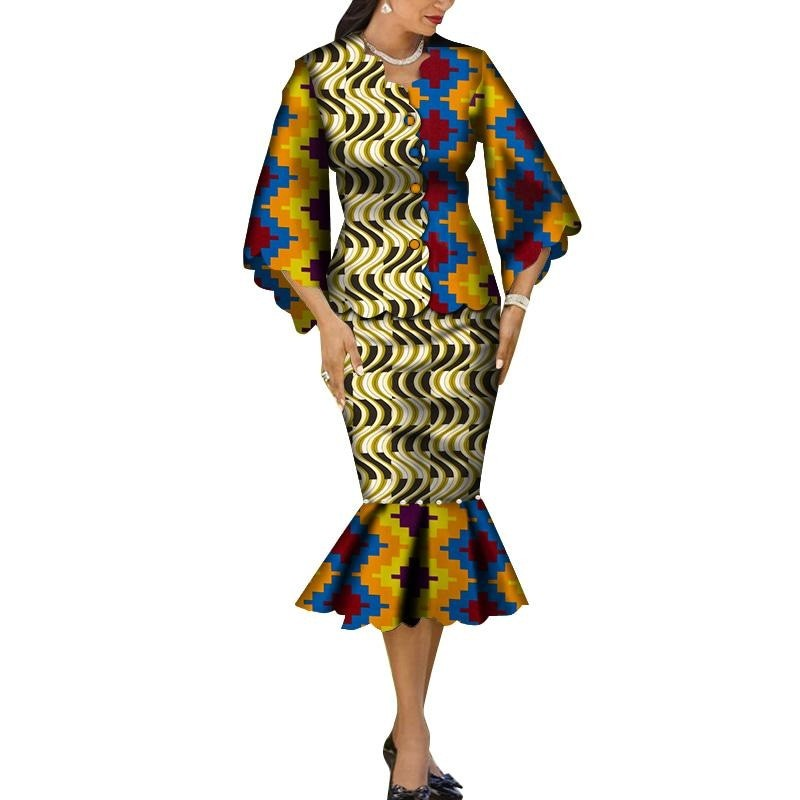 Robe Wax Grande Taille - Robe-africaine.com - 10 / M