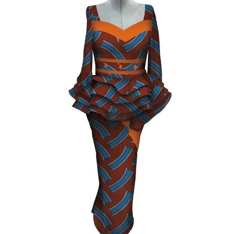 Robe Wax douce Soie - Robe-africaine.com - [variant_title]