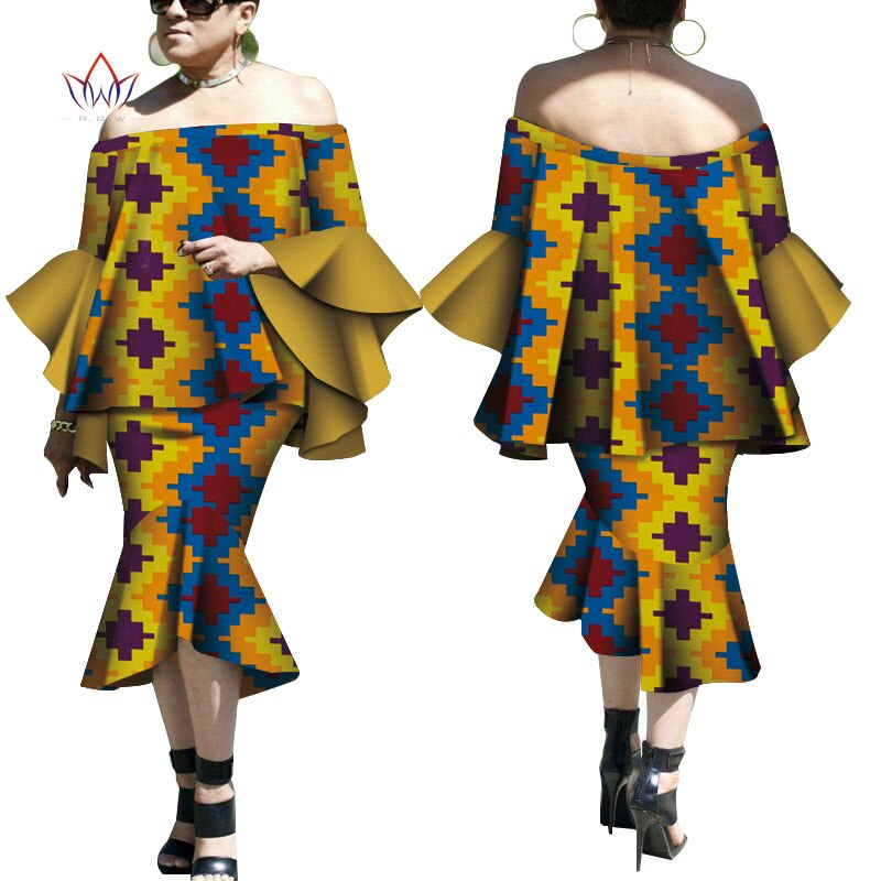 Robe Wax Deux tons - Robe-africaine.com - 3 / M