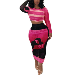 Tenue Africaine Unicolore en deux temps - Robe-africaine.com - Red / S