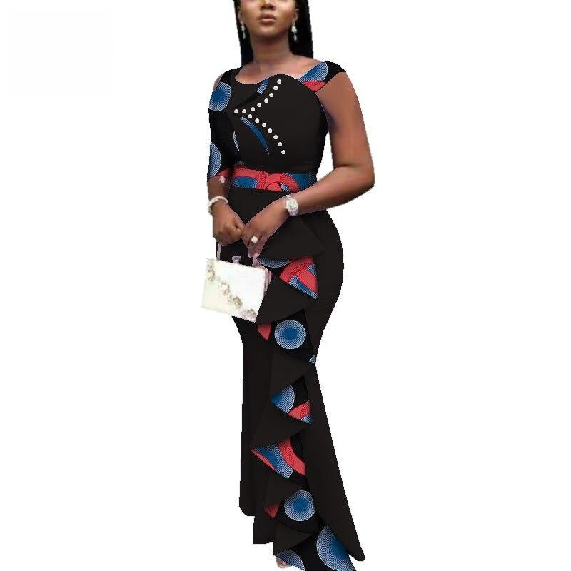 Robe Wax Classe - Robe-africaine.com - Red / M