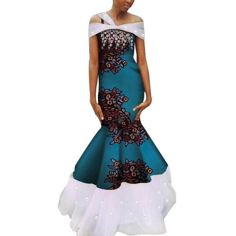 Robe Wax - Traine de Dentelle - Robe-africaine.com - 2 / M