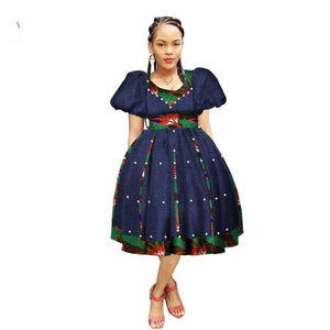 Robe Wax avec Jupe Ample - Robe-africaine.com - 12 / M