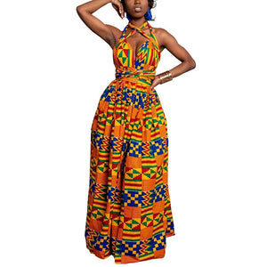 Robe longue africaine en pagne - Robe-africaine.com - M03 / S