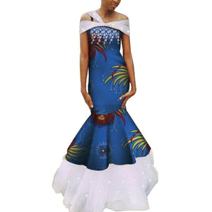 Robe Wax - Traine de Dentelle - Robe-africaine.com - 11 / M