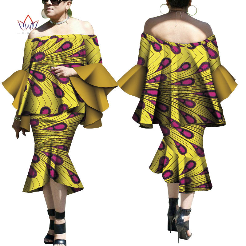 Robe Wax Deux tons - Robe-africaine.com - 2 / M