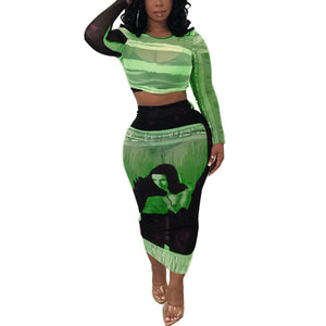 Tenue Africaine Unicolore en deux temps - Robe-africaine.com - Green / S