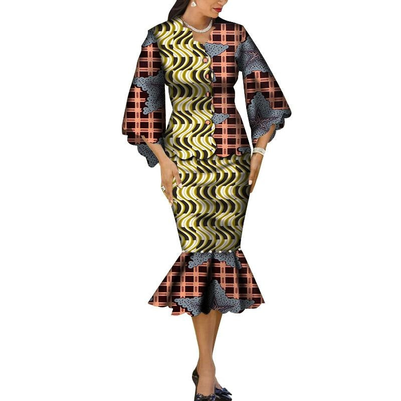 Robe Wax Grande Taille - Robe-africaine.com - 7 / M