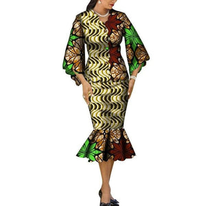 Robe Wax Grande Taille - Robe-africaine.com - 2 / M
