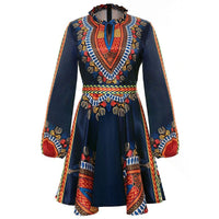 Robe africaine en wax - Robe-africaine.com - Black / L