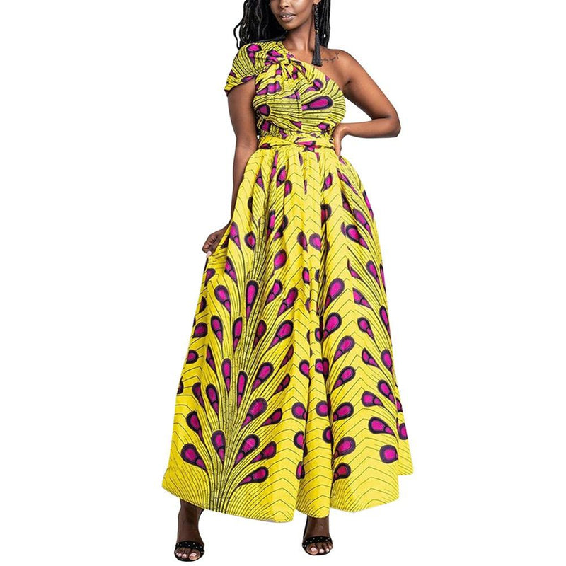Robe longue africaine en pagne - Robe-africaine.com - M02 / S