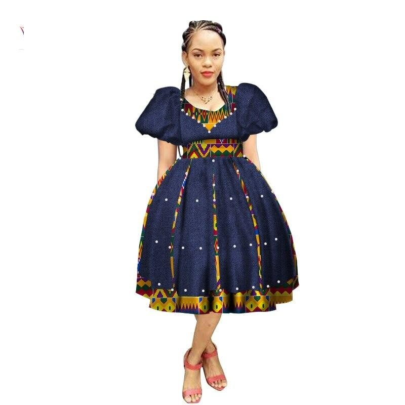 Robe Wax avec Jupe Ample - Robe-africaine.com - 11 / M