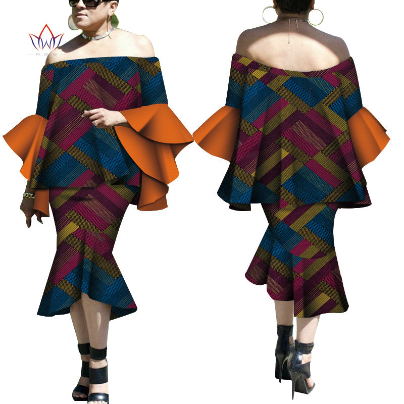 Robe Wax Deux tons - Robe-africaine.com - 10 / M