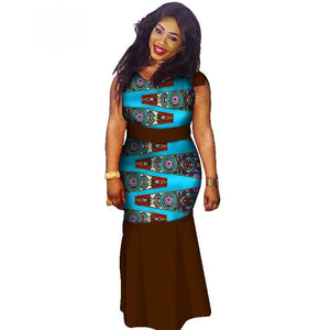 Boubou Africain Femme Grande Taille - Robe-africaine.com - 6 / M