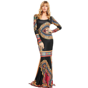 Robe longue africaine wax - Robe-africaine.com - [variant_title]