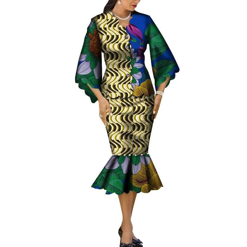 Robe Wax Grande Taille - Robe-africaine.com - [variant_title]