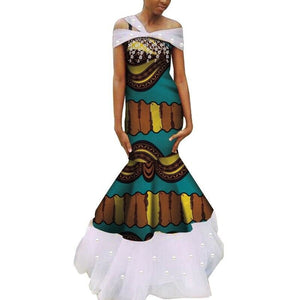 Robe Wax - Traine de Dentelle - Robe-africaine.com - 3 / M