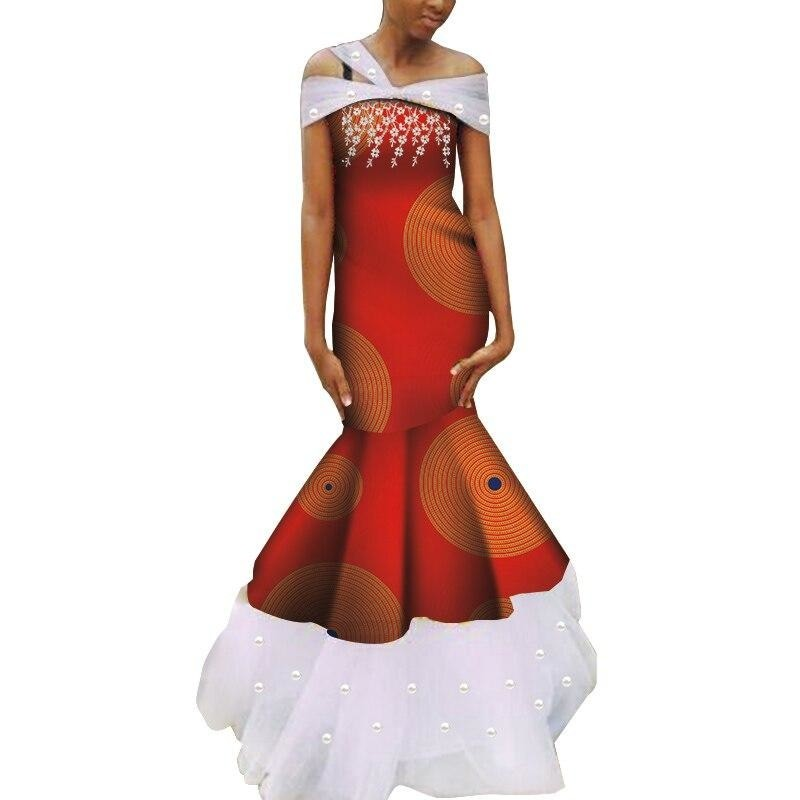 Robe Wax - Traine de Dentelle - Robe-africaine.com - 1 / M