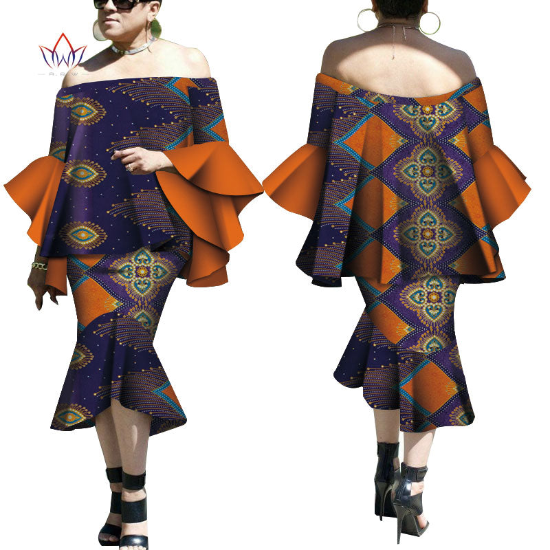 Robe Wax Deux tons - Robe-africaine.com - 4 / M