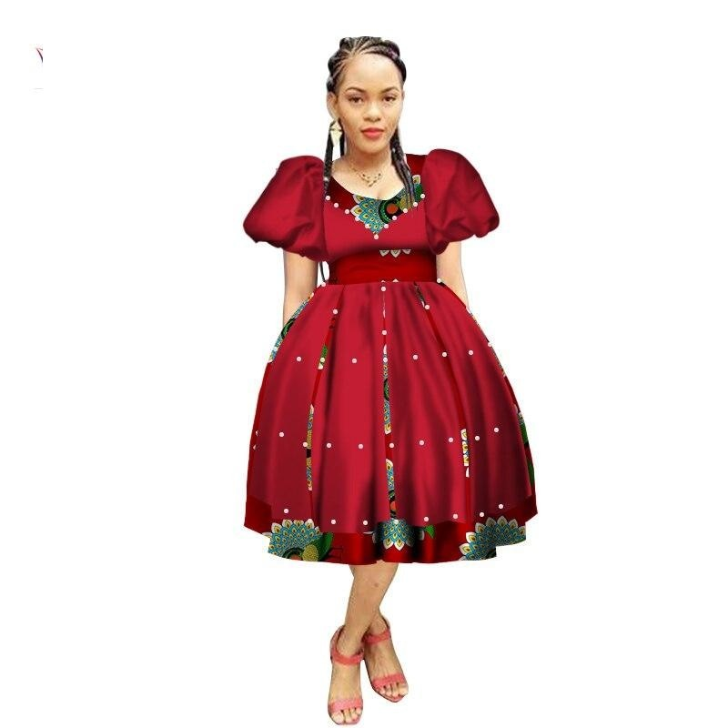 Robe Wax avec Jupe Ample - Robe-africaine.com - 10 / M