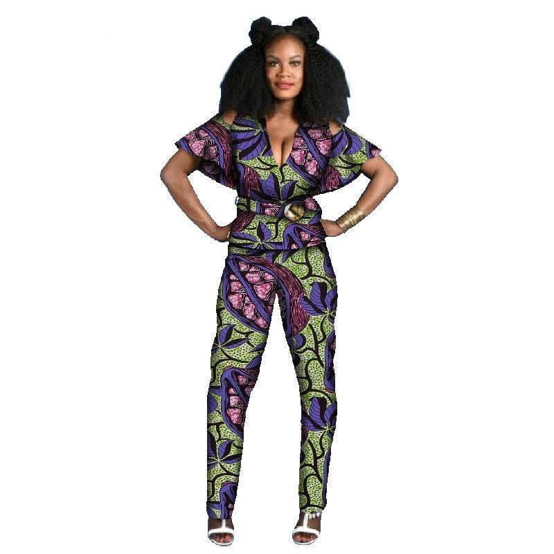 Tenue Africaine Wax Fleurie - Robe-africaine.com - 11 / M