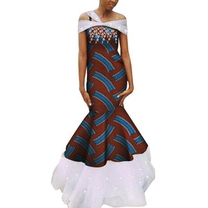 Robe Wax - Traine de Dentelle - Robe-africaine.com - 4 / M