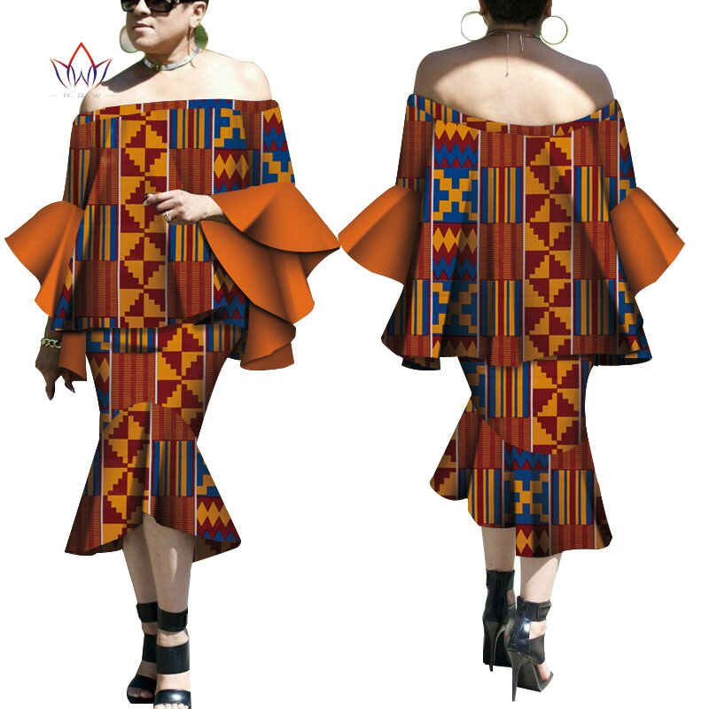 Robe Wax Deux tons - Robe-africaine.com - 6 / M