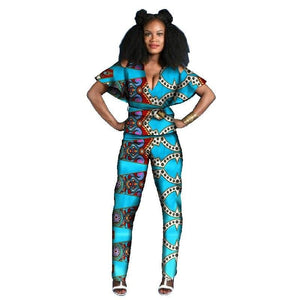 Tenue Africaine Wax Fleurie - Robe-africaine.com - 1 / M