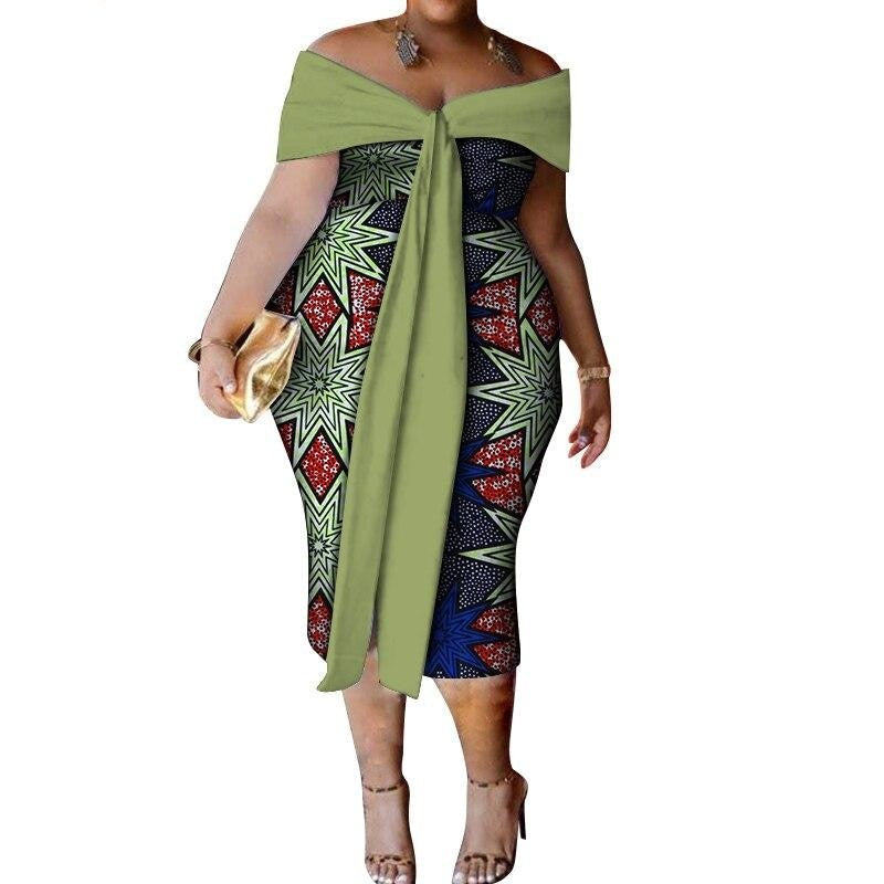 Robe Wax Bazin Riche - Robe-africaine.com - [variant_title]