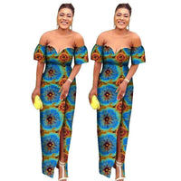 Robe Wax Epaules dénudées - Robe-africaine.com - [variant_title]