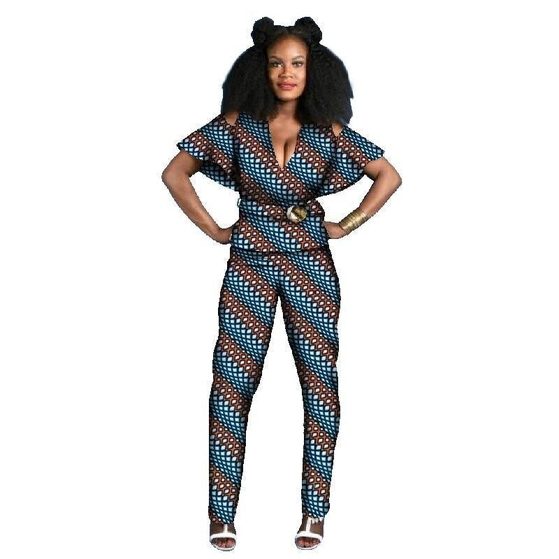 Tenue Africaine Wax Fleurie - Robe-africaine.com - 2 / M