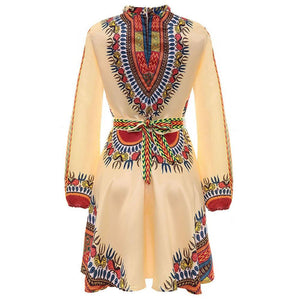 Robe africaine en wax - Robe-africaine.com - White / L