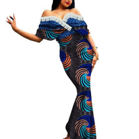Robe Africaine Longue Evasee Organza - Robe-africaine.com - 4 / M