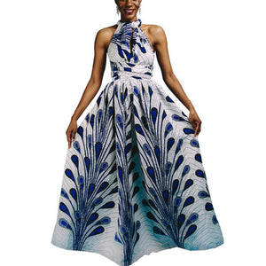 Robe longue africaine en pagne - Robe-africaine.com - M01 / S