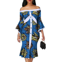 Robe Wax mi longue - Robe-africaine.com - [variant_title]