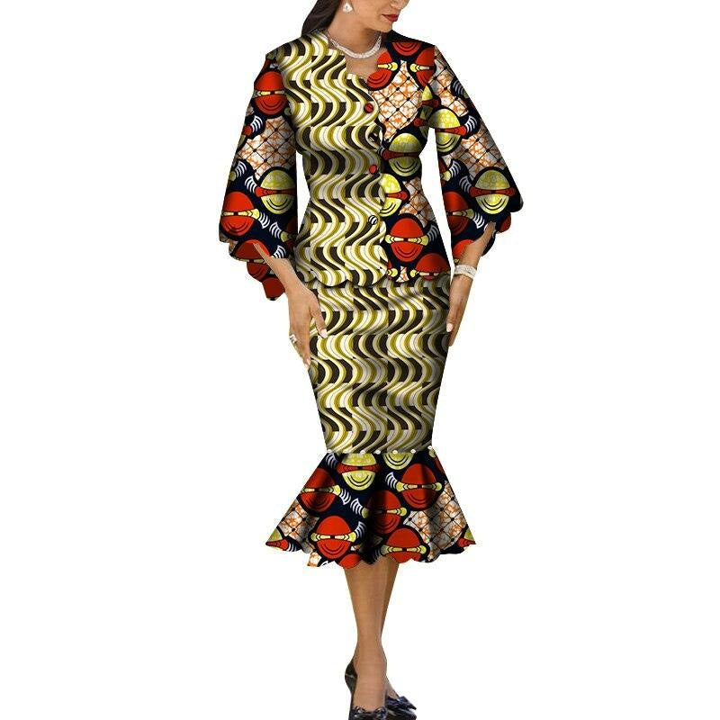 Robe Wax Grande Taille - Robe-africaine.com - 9 / M