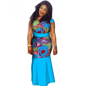 Boubou Africain Femme Grande Taille - Robe-africaine.com - 8 / M