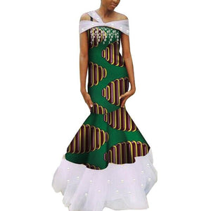 Robe Wax - Traine de Dentelle - Robe-africaine.com - 9 / M