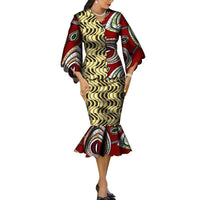 Robe Wax Grande Taille - Robe-africaine.com - 4 / M