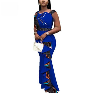 Robe Wax Classe - Robe-africaine.com - Brown / M