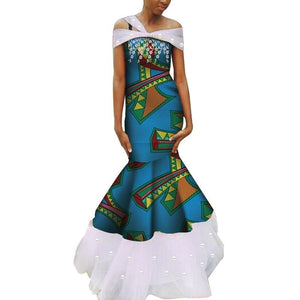Robe Wax - Traine de Dentelle - Robe-africaine.com - 7 / M