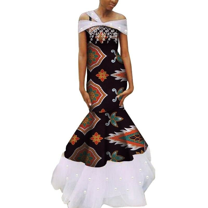 Robe Wax - Traine de Dentelle - Robe-africaine.com - 16 / M