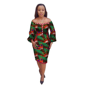 Robe Wax Trois quarts - Robe-africaine.com - [variant_title]