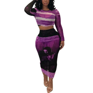 Tenue Africaine Unicolore en deux temps - Robe-africaine.com - Purple / S