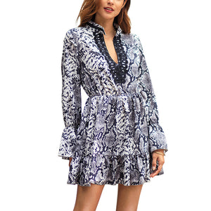 Robe Africaine style reptilien - Robe-africaine.com - Gray / S
